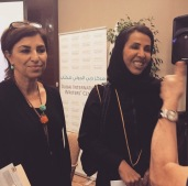 With Authr Badria Al Bishr @Emirateslitfest 2014