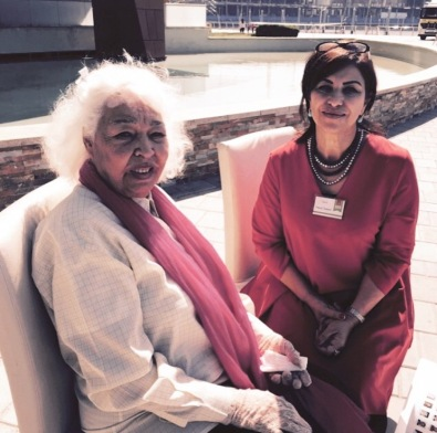 with Author Nawal AL Saadawi @Emirateslitfest 2015